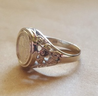 Ring - COIN SIGNET - Sterling Silver or 9ct Gold