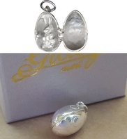 Charm - OPENING EGG WITH BUNNY - Sterling Silver or 9ct Gold