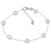 Necklet & Bracelet - PEARLS & CHAIN - Sterling Silver