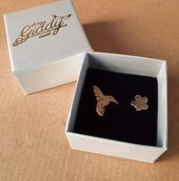Earrings - HUMMINGBIRD FLOWER - Sterling Silver