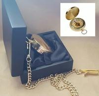 Compass - MODERN POCKET FOB CHAIN - Gold Brass