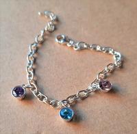 Bracelet - BIRTHSTONE CHARMS - Sterling Silver