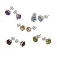 Stud Earrings - GEMSTONES - Sterling Silver