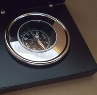 Compass - CHROME - Boxed, Engraving Plaque