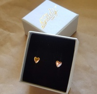 Earrings - TINY HEARTS - Sterling Silver OR 9ct Gold