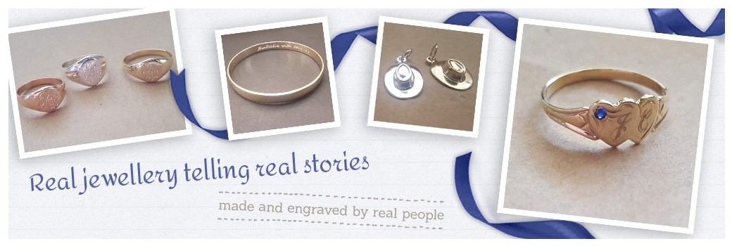 custom made engraved rings, bangles, charms and signet rings:
