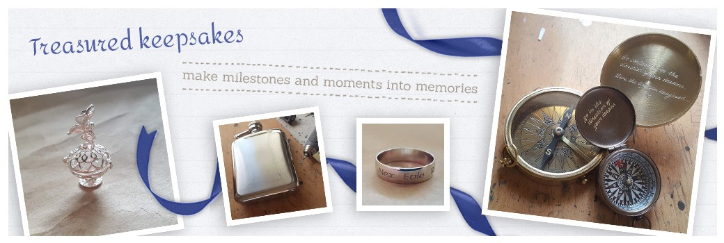 personalised, engraved gifts including compass, hip flasks and ring: