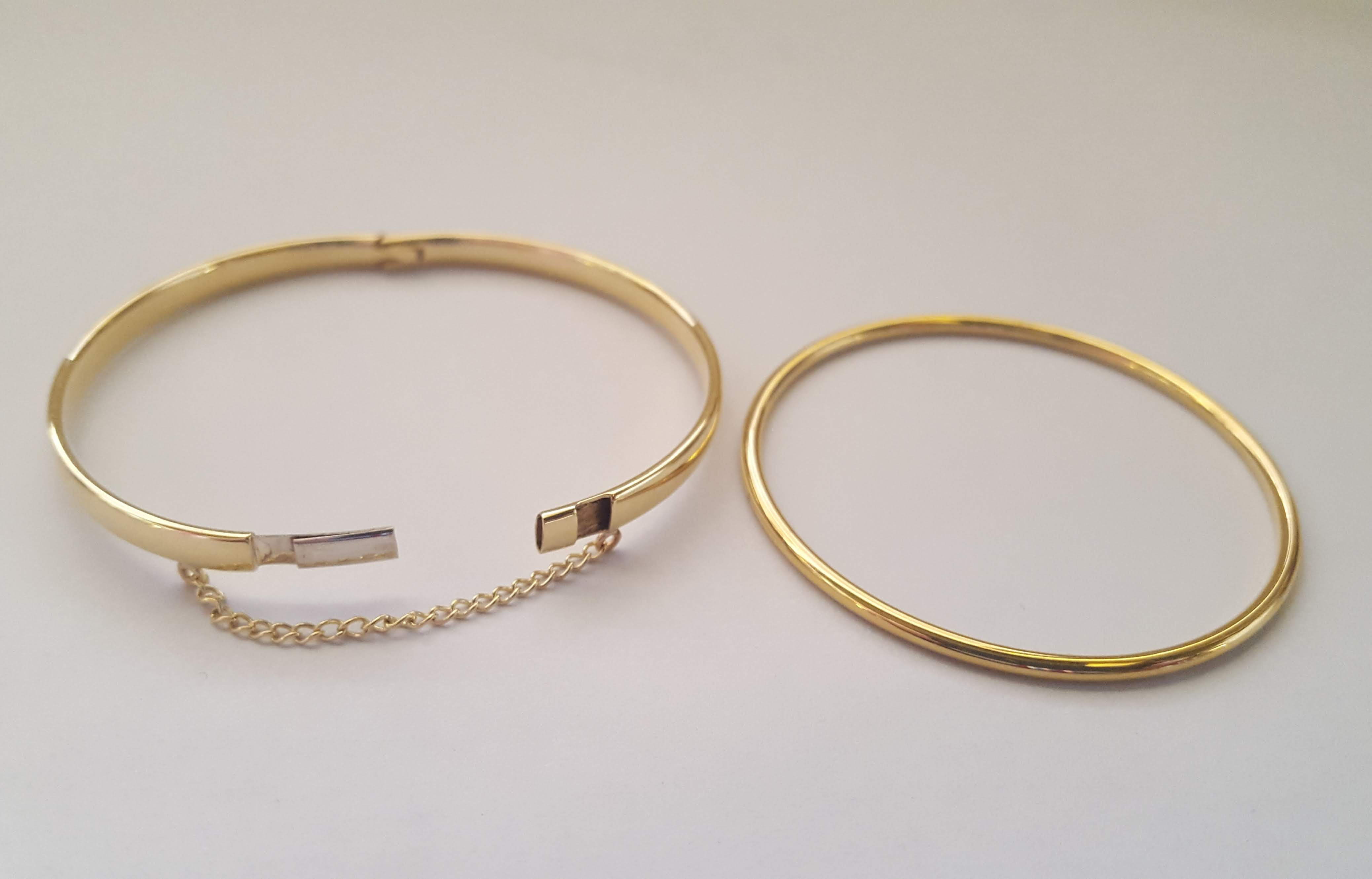 9ct gold baby bangles comparison