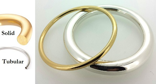 hollow or solid golf bangle