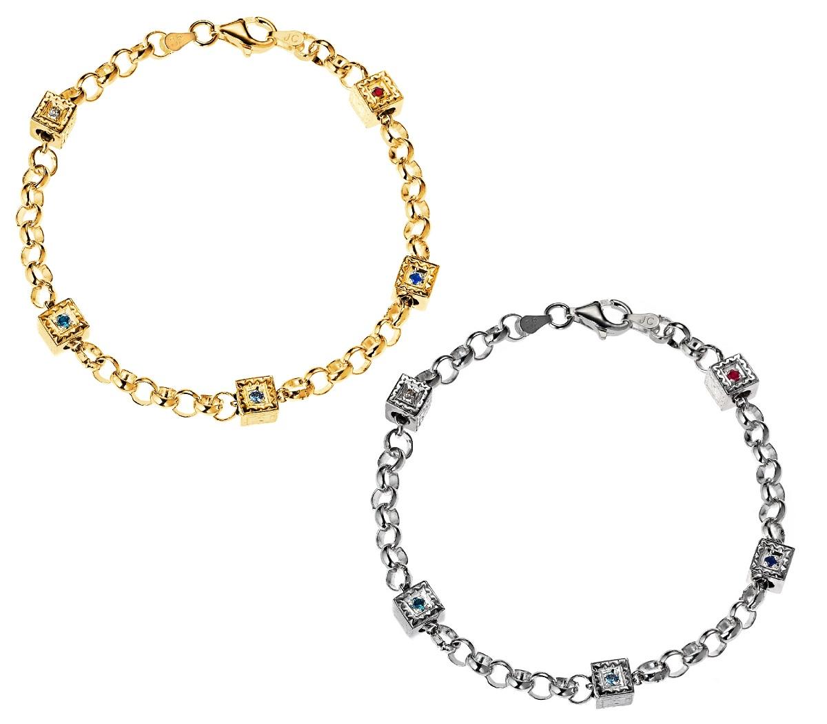 gold silver charm bracelets