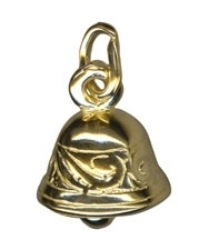 gold bell charm