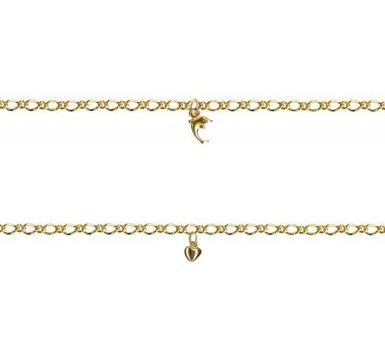 fine gold chain and charm