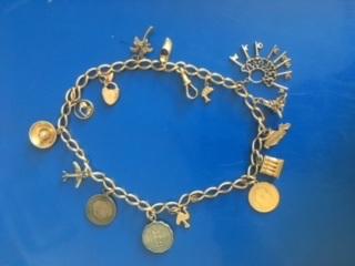 gold 50s charm bracelet