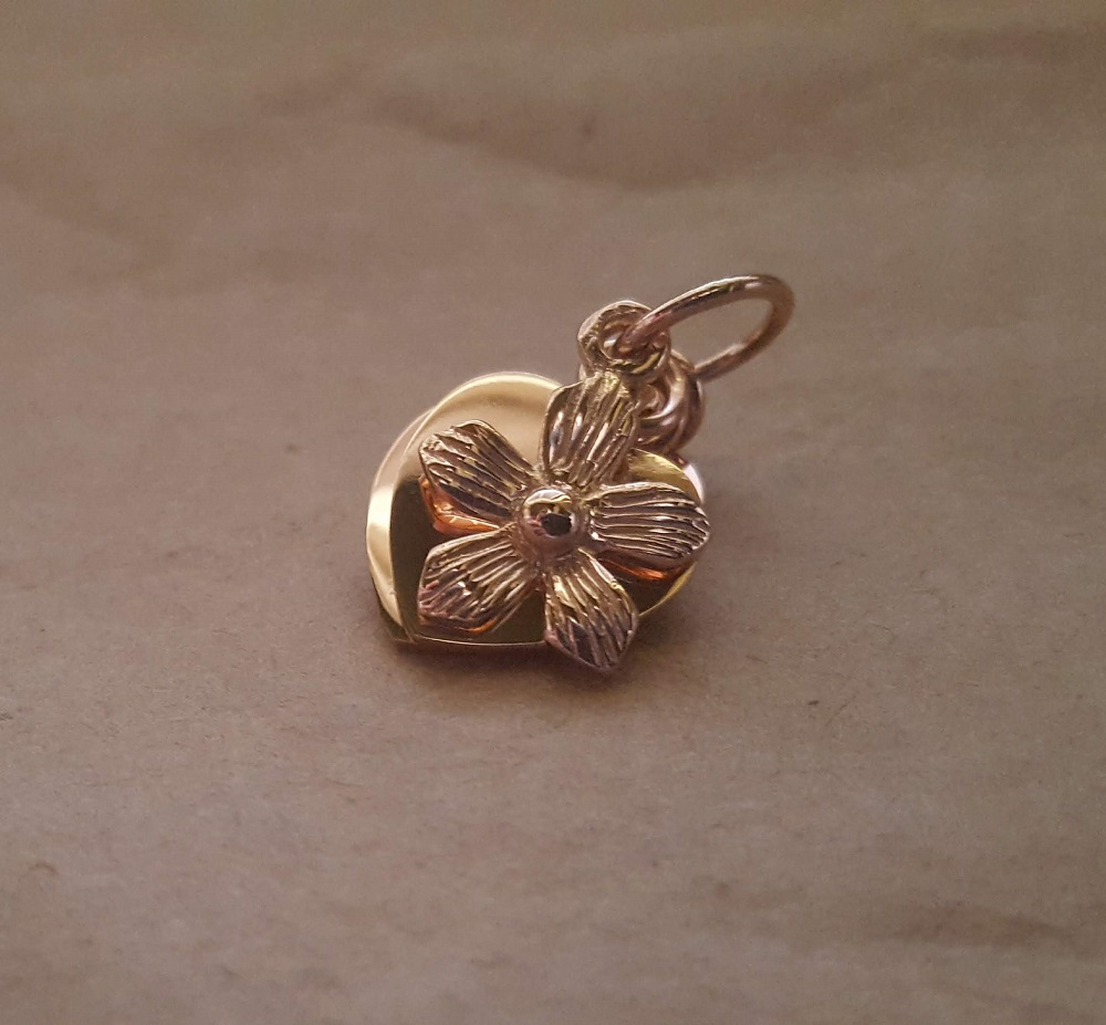 soldered jump ring charm