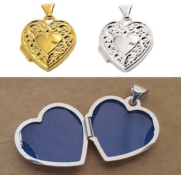 silver and gold lockets