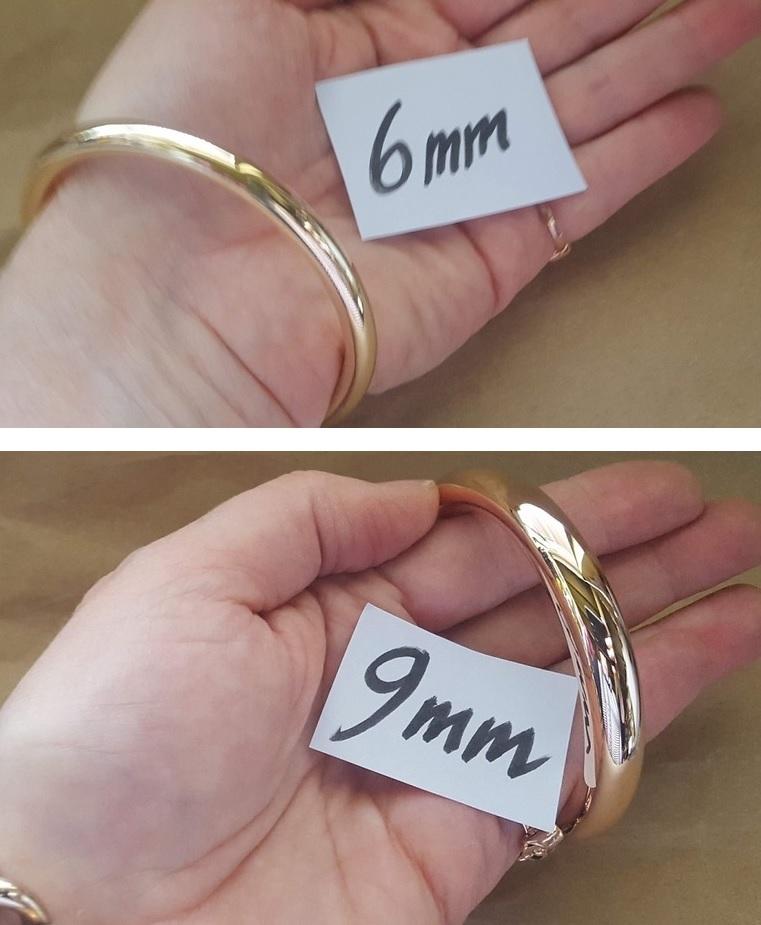 round gold bangles australia