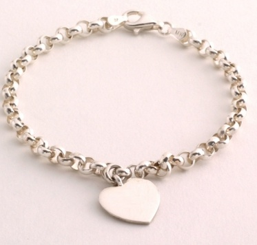 silver charm bracelet personalised