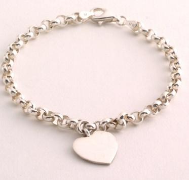 starter charm bracelet silver