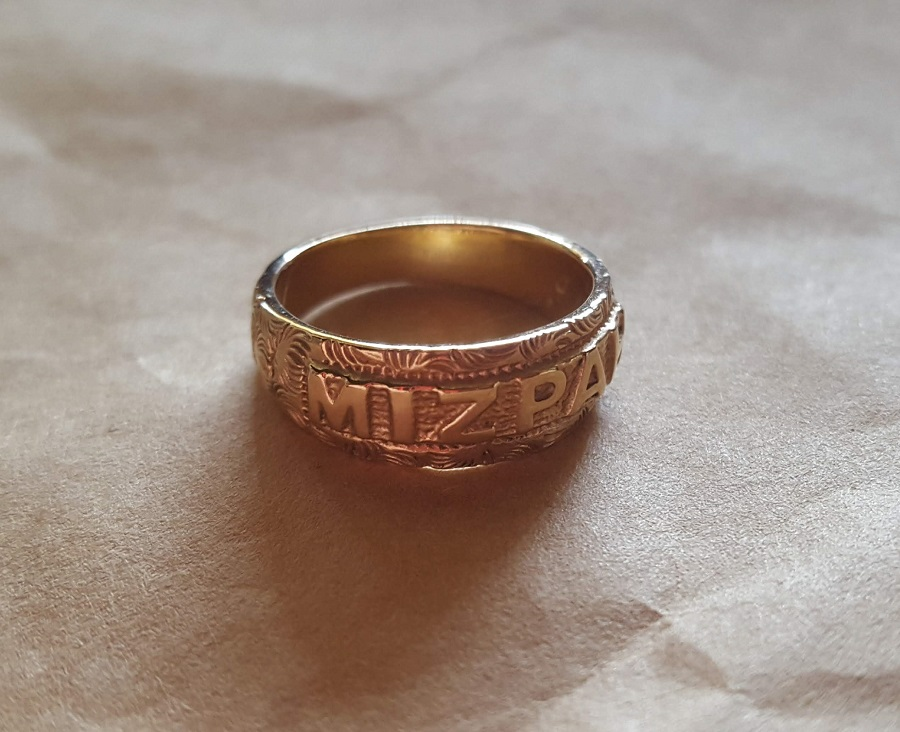 mizpah ring gold