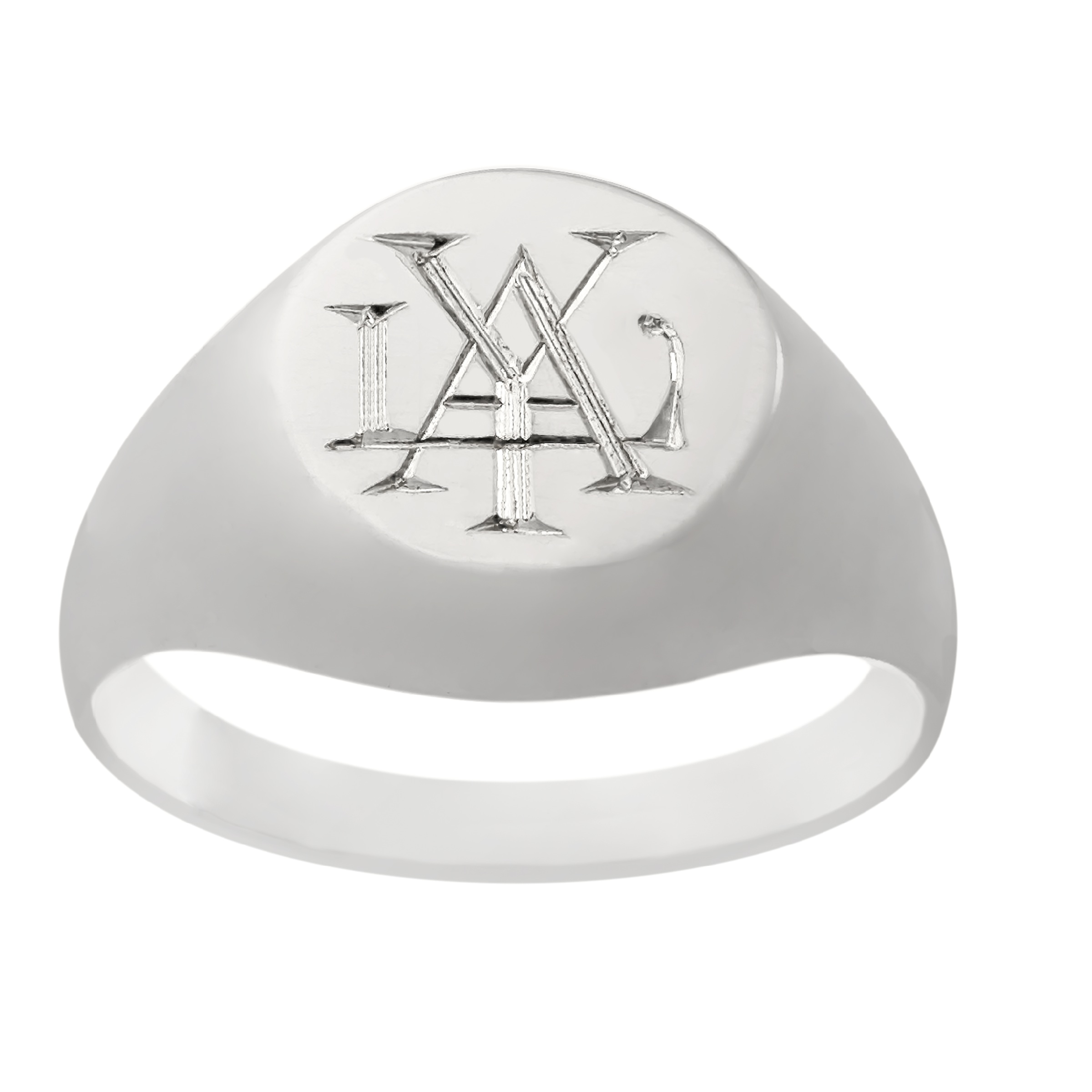 monogram signet ring engraved