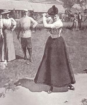 lady golfer vintage