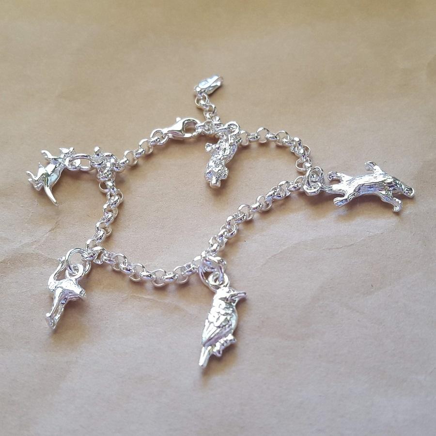 aussie animals charm bracelet