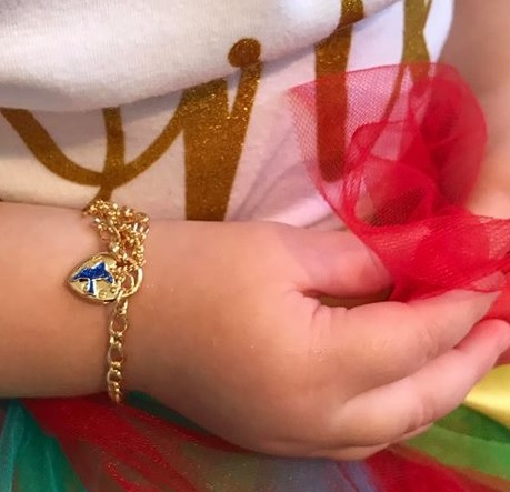 gold bluebird baby bracelet