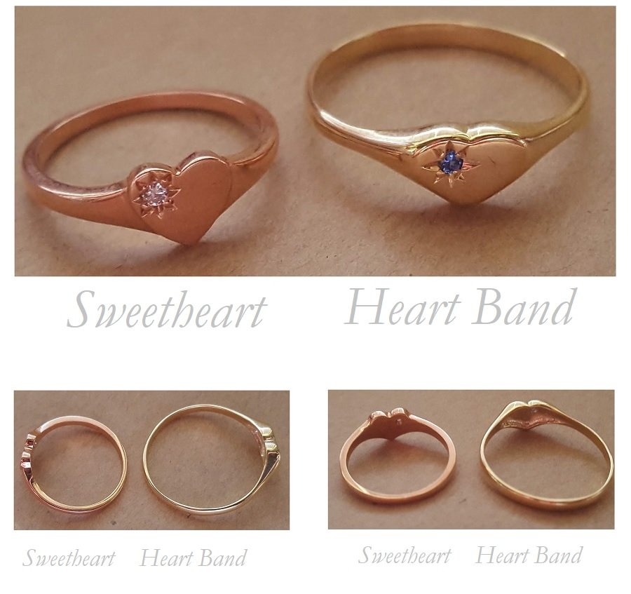 heart band difference signet