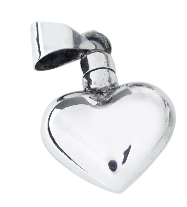 perfume bottle locket silver