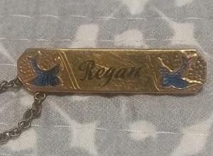 vintage bluebird brooch