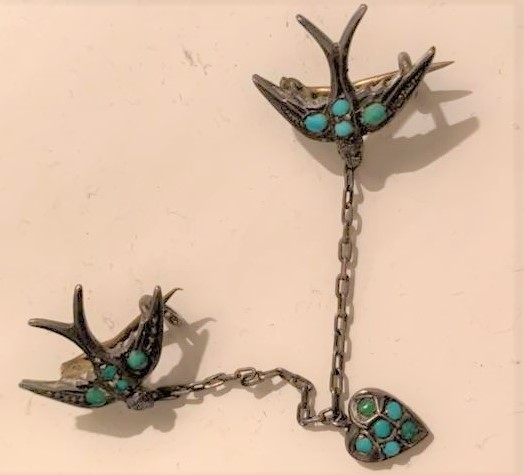 victorian swallow jewellery