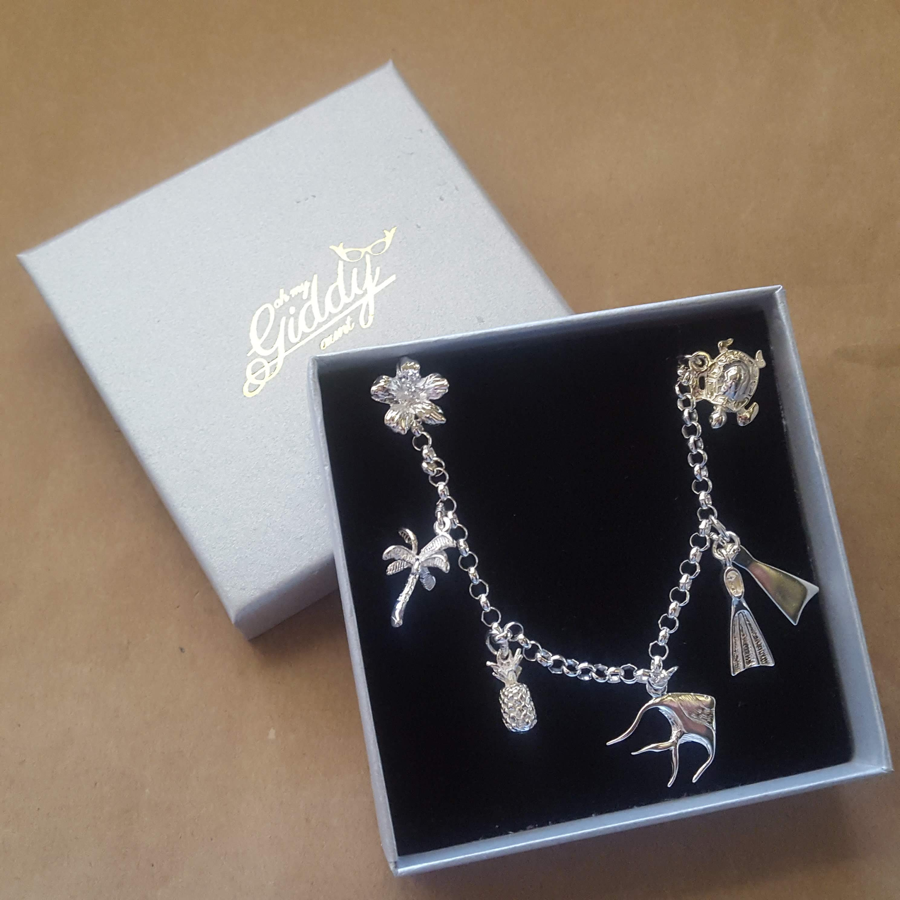 charm bracelet with palm tree
