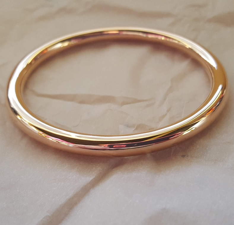 6mm wide gold bangle