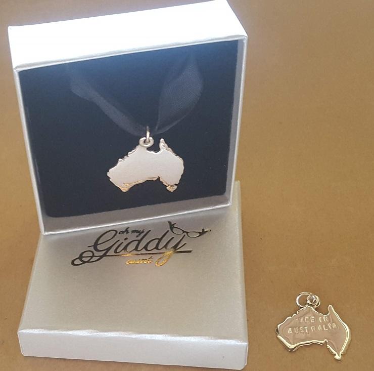 made in Australia personalised pendant