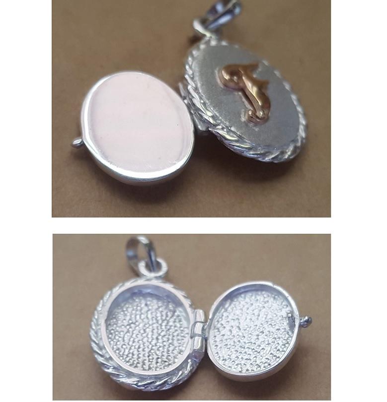 oval locket personalised