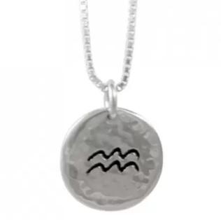 aquarius pendant silver