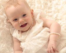 baby pearl christening jewellery