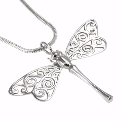 dragonfly pendant silver