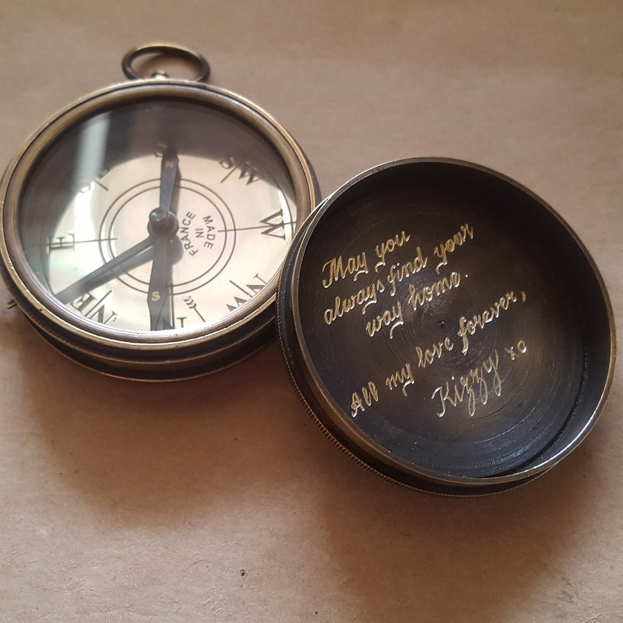 engraved compass keepsakes