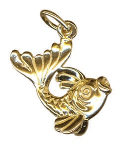 pisces fish charm gold