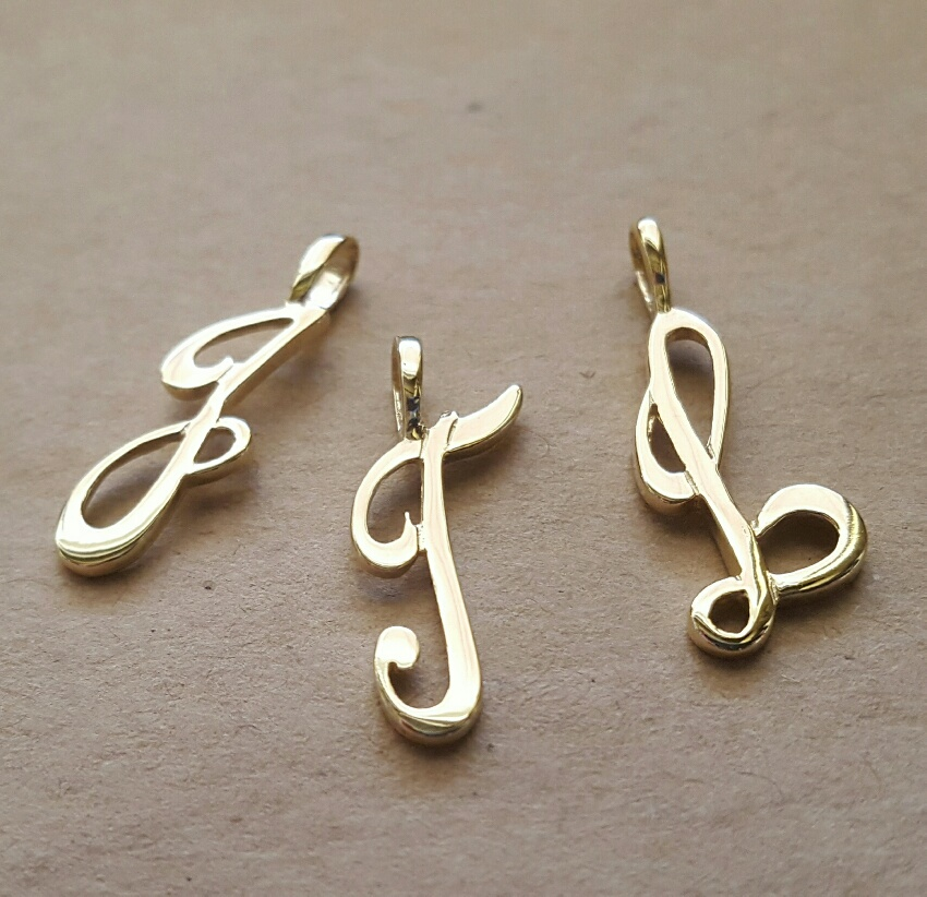 letter initial charms