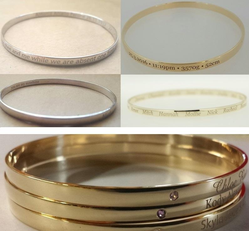 laser engraved bangles