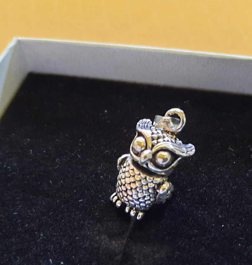 owl pendant silver