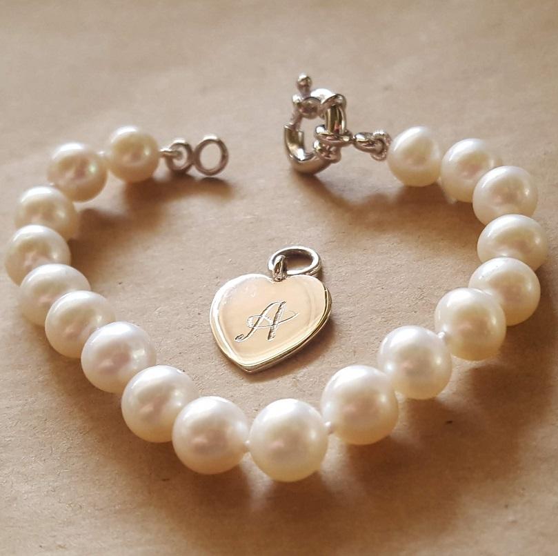 pearl bracelet for child