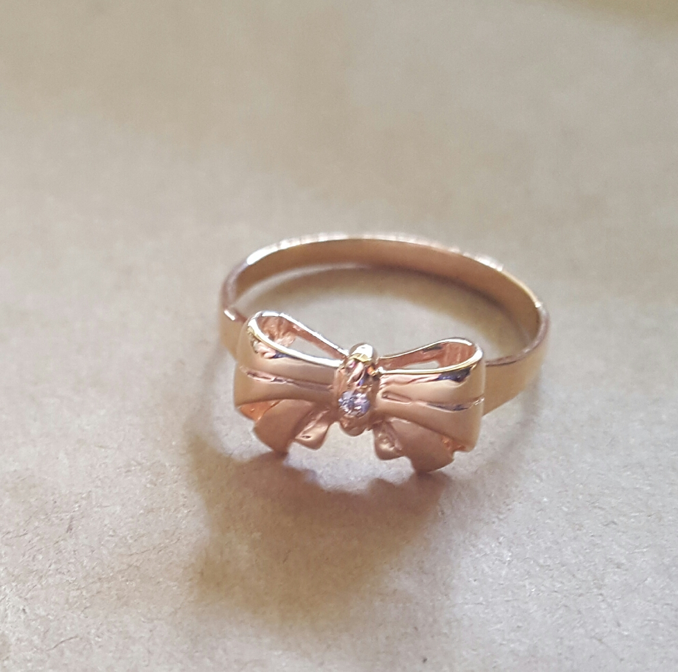 bow ring rose gold and diamond