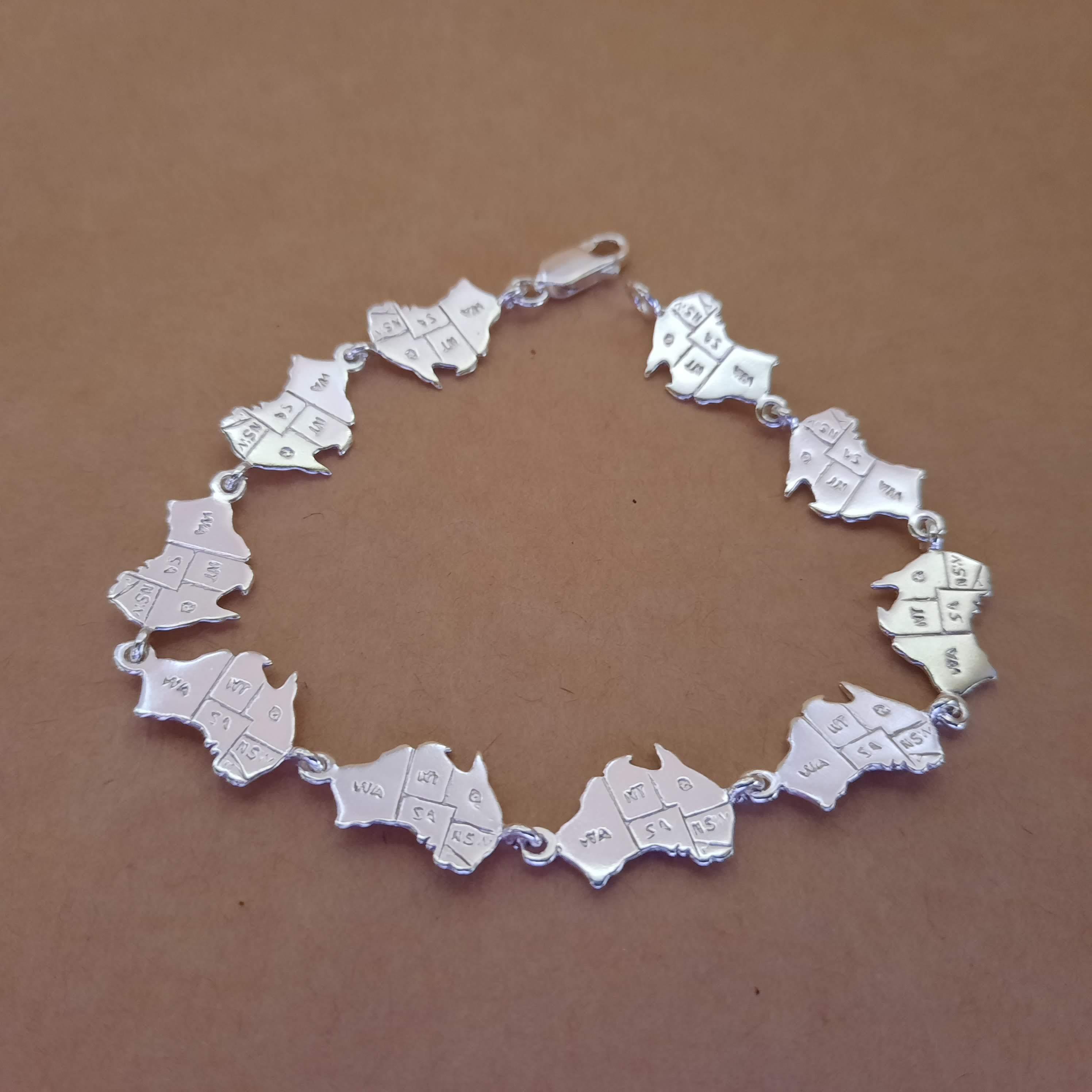 australian linked charm bracelets