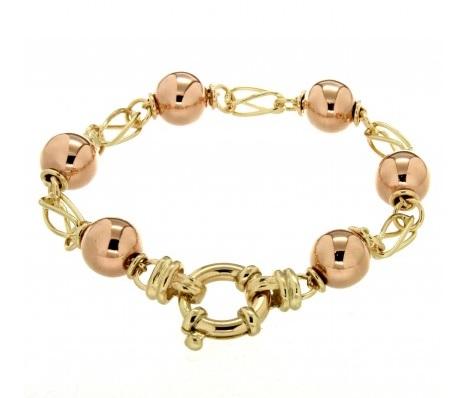 9ct gold ball bracelet