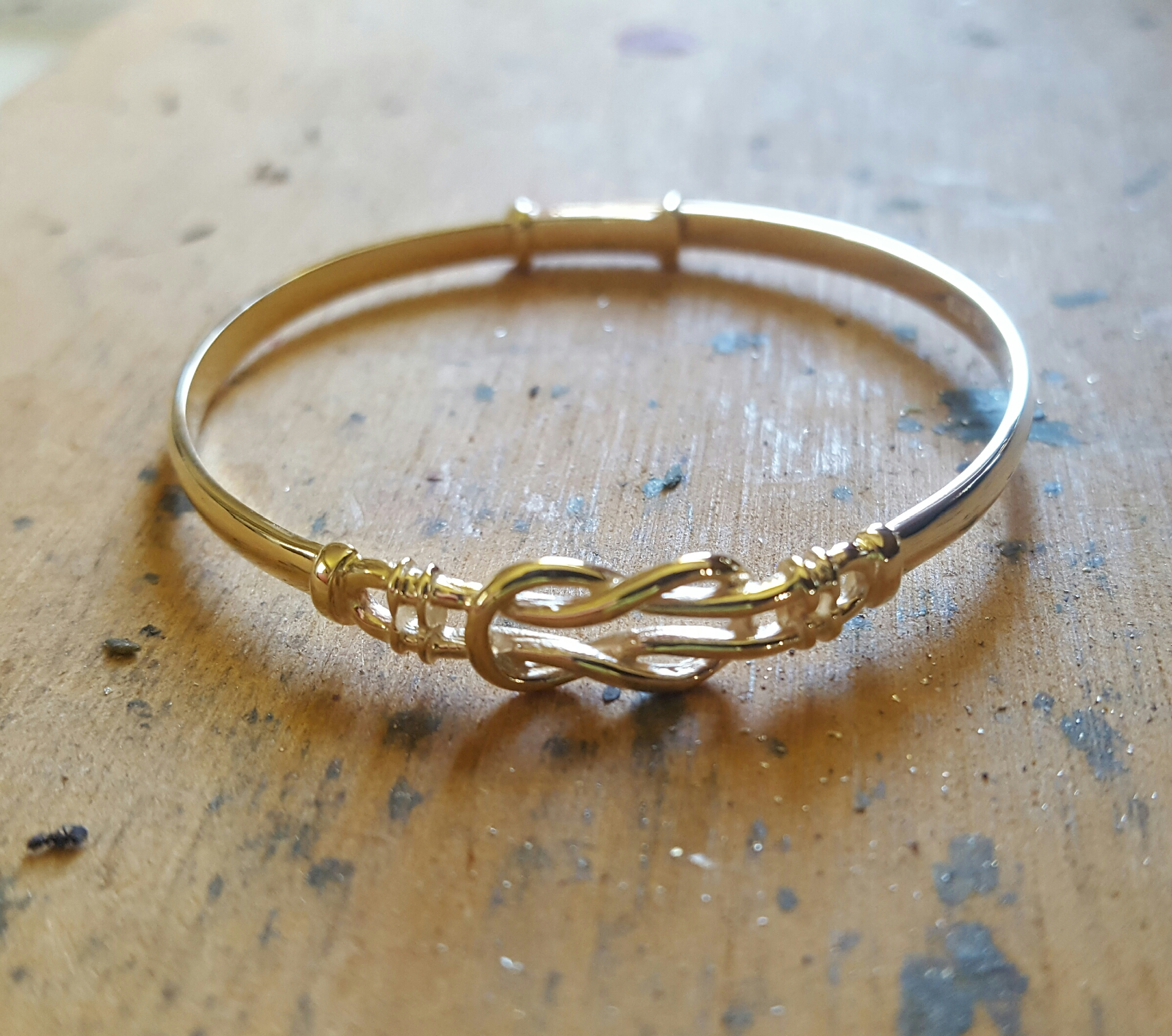 love knot gold bangle