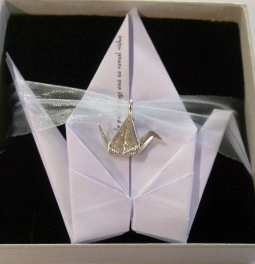 Origami Crane Story In Silver Or Gold Pendants And Charms