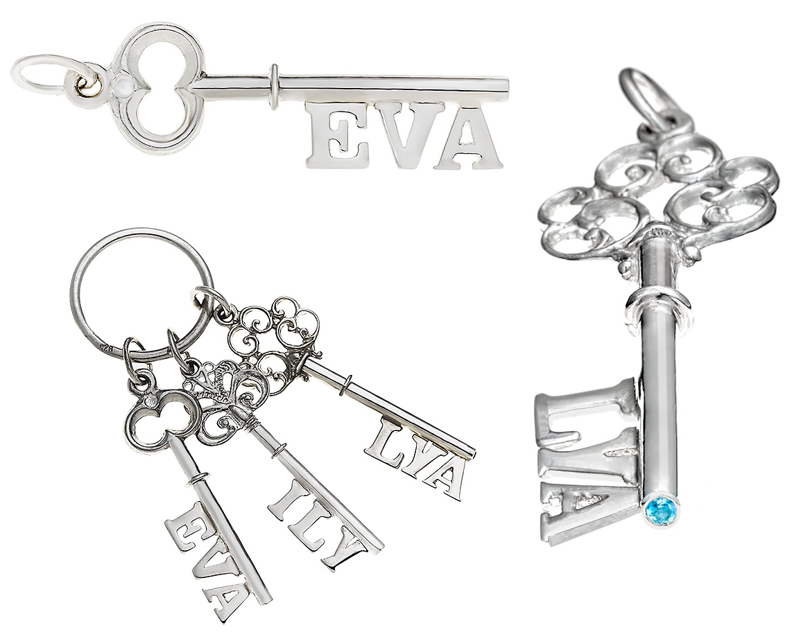 key pendants personalised